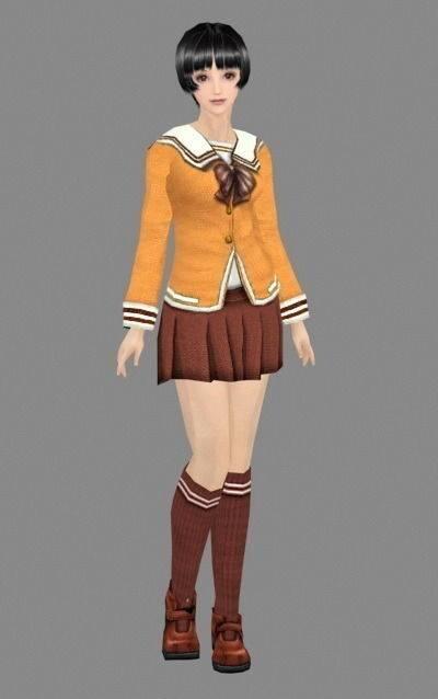 女人343D模型【ID:616940536】