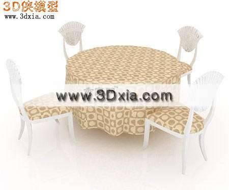 非常好看的3D餐桌模型