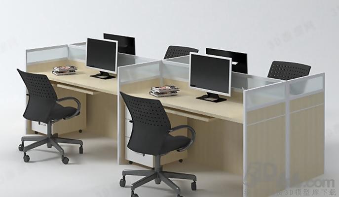 办公桌33D模型【ID:617344638】