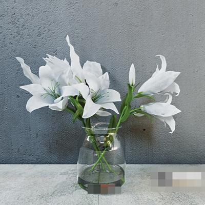 透明玻璃花瓶3D模型【ID:617467837】