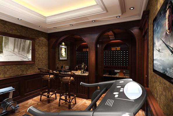 新中式家居健身房3D模型【ID:617488422】