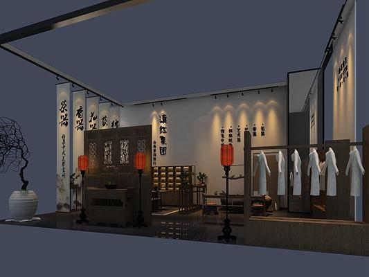 新中式茶艺展厅3D模型【ID:617502592】