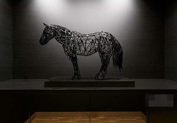 黑色铁艺工艺品3D模型【ID:617516689】