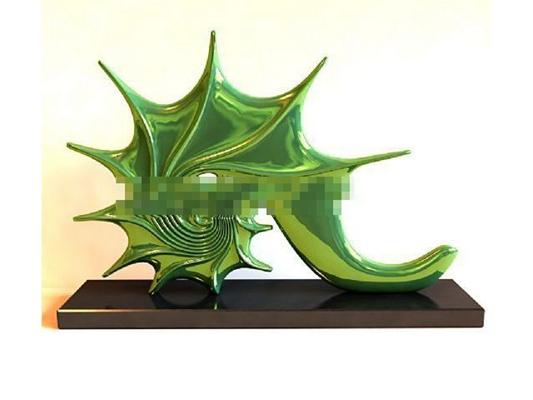 绿色金属工艺品3D模型【ID:617536653】