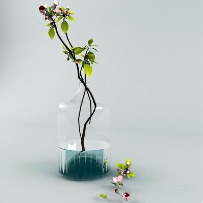 透明玻璃花瓶3D模型【ID:617561840】