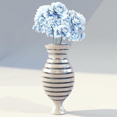 陶艺花瓶3D模型【ID:617561894】