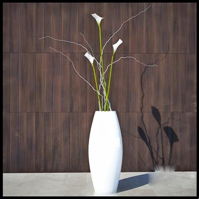 白色陶艺花瓶3D模型【ID:617562814】
