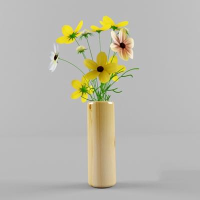 陶艺花瓶3D模型【ID:617562881】
