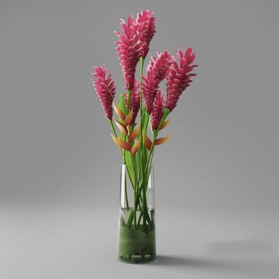透明玻璃花瓶3D模型【ID:617562884】