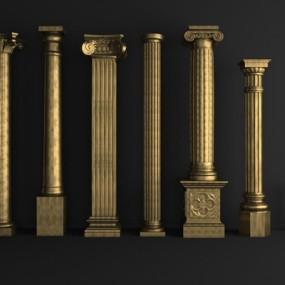 欧式罗马柱3D模型【ID:828127111】