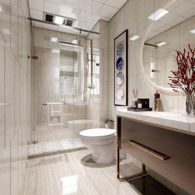 新中式卫生间浴室3D模型【ID:128402637】