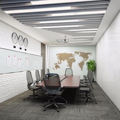 现代会议室3D模型【ID:728082814】