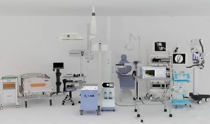 现代医疗器械3D模型下载【ID:719484356】