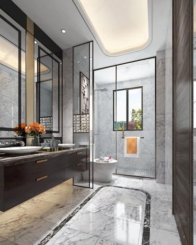 新中式卫浴间3D模型【ID:528287436】