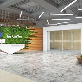 现代办公前厅3D模型【ID:728311712】