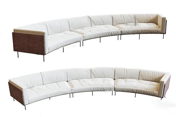 現代弧形多人沙發3D模型【ID:646658729】