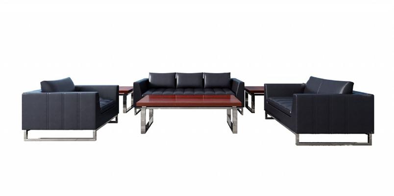 现代沙发茶几组合3D模型【ID:626234044】