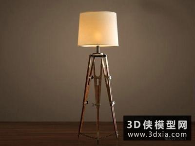 現代北歐落地燈國外3D模型【ID:929692029】