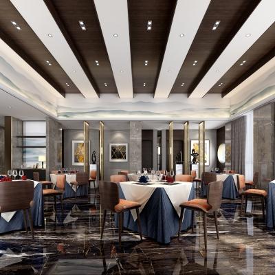 現代輕奢西餐廳3D模型【ID:228423996】