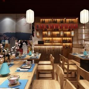 日式料理店3D模型【ID:328437035】