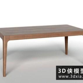 现代餐桌国外3D模型【ID:729653729】