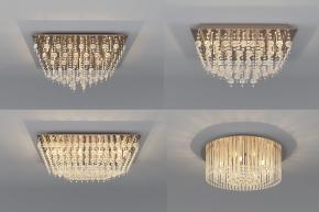 现代水晶吸顶灯组合3D模型【ID:627804065】