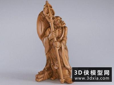 看门罗汉国外3D模型【ID:929551772】