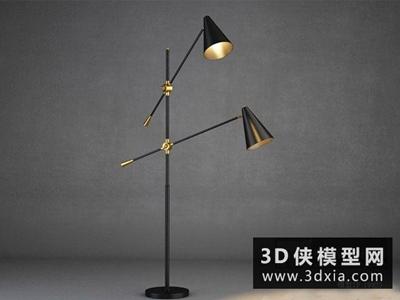 現代落地燈國外3D模型【ID:929526096】