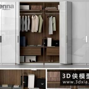 现代衣柜组合国外3D模型【ID:829351003】