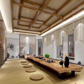 日式禅意茶室3D模型【ID:327917757】