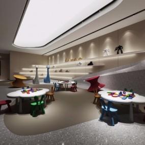 现代幼儿园活动室3D模型【ID:528452864】