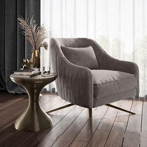 美式单人沙发茶几组合3D模型【ID:920792697】