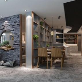 现代餐厅3D模型【ID:528283574】
