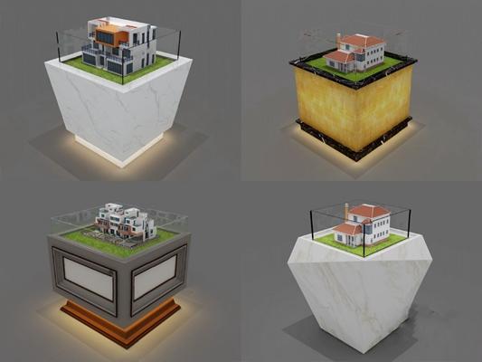 展示台3D模型