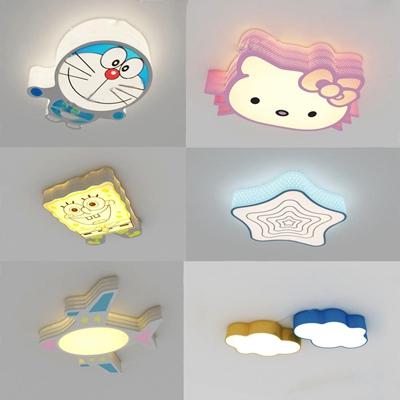 儿童房吸顶灯3D模型【ID:628047036】
