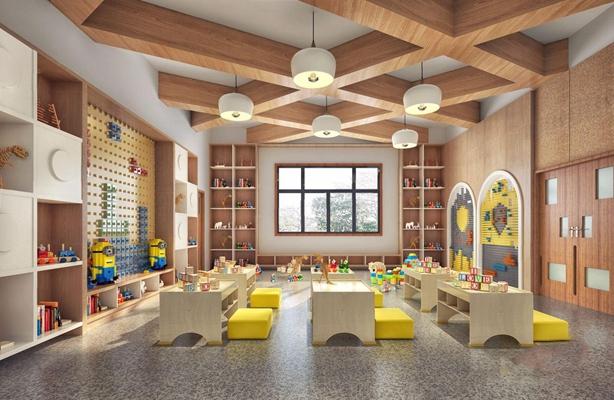 幼儿园教室3D模型【ID:728220071】