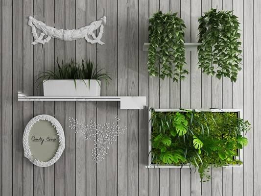 北欧盆栽3D模型下载【ID:319603834】