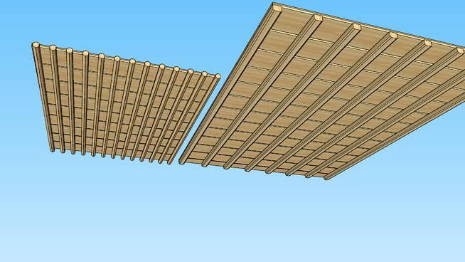 屋顶木屋顶SU模型【ID:439829065】
