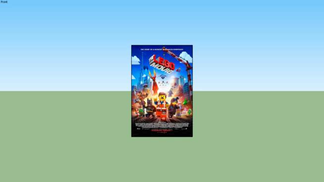 乐高电影-最后一张电影海报27×40双面(未框)SU模型【ID:139831319】