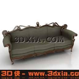 细腻高档的3D多人沙发模型3D模型【ID:6472】