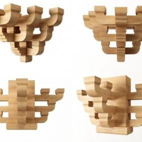 新中式斗拱构件墙饰3D模型【ID:227781249】
