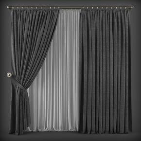 現代布藝窗簾3D模型【ID:327785884】