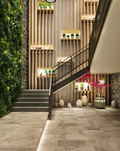 现代餐厅楼梯间3D模型【ID:728106975】