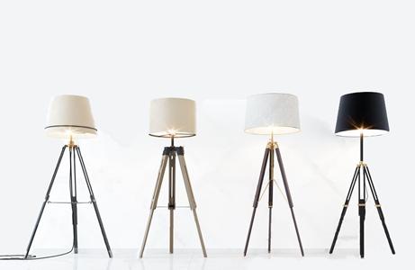 現代金屬落地燈組合3D模型【ID:628299210】