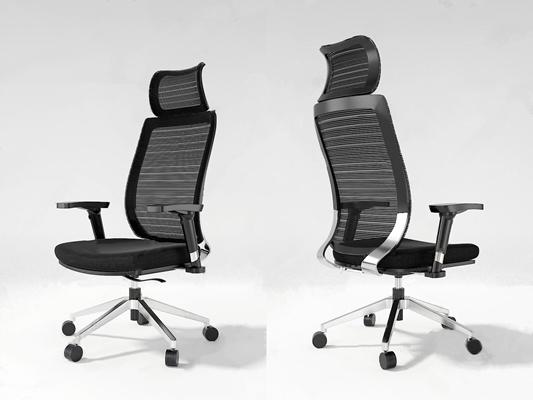 现代办公转椅3D模型【ID:228239929】