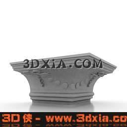 精美的欧式柱头3D模型【ID:6502】