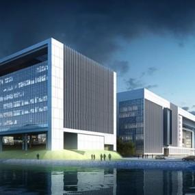 科技大厦建筑外观3D模型【ID:528007410】