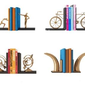 现代雕塑书本摆件3D模型【ID:236239554】