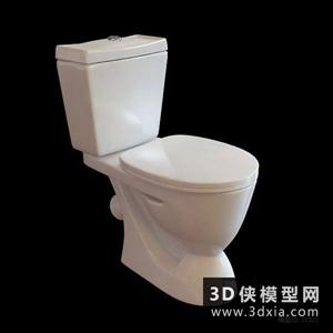 马桶国外3D模型【ID:929858905】
