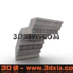 品质细腻的欧式构件3D模型【ID:6551】